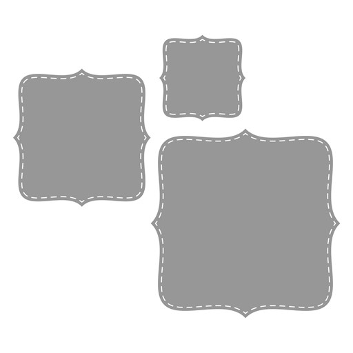 Stitched Brackets Thin Cuts (Z3631)