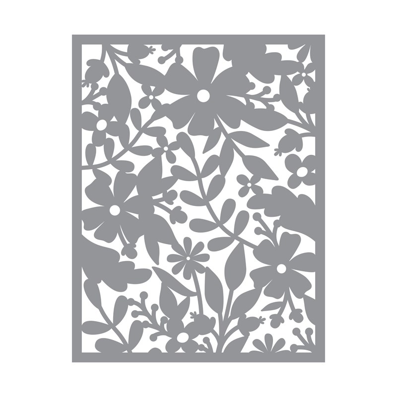 Floral Background Thin Cuts