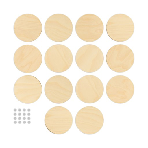 Wood Circles & Magnets (CC2103)