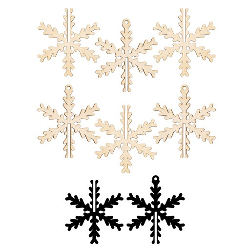 3-D Snowflake Wood Ornaments (CC11207)