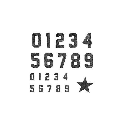 Sport Jersey Numbers (A1232)