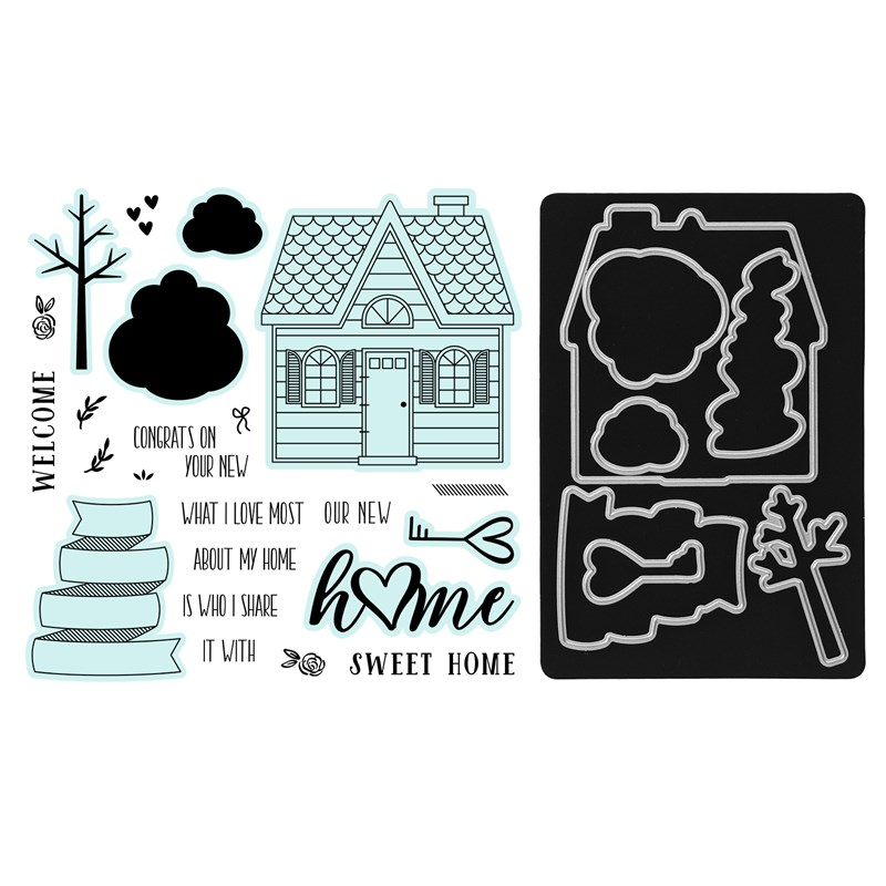 Home Sweet Home Stamp + Thin Cuts