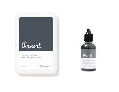 Charcoal Exclusive Inks™ Stamp Pad + Re-inker (CC1437)
