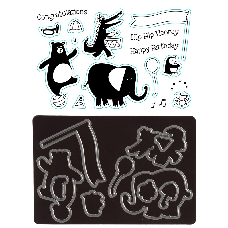 Birthday Parade Stamp + Thin Cuts