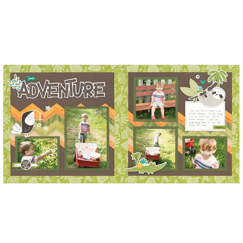 Sweet Safari Scrapbooking Workshop Kit (without Memory Protectors™)