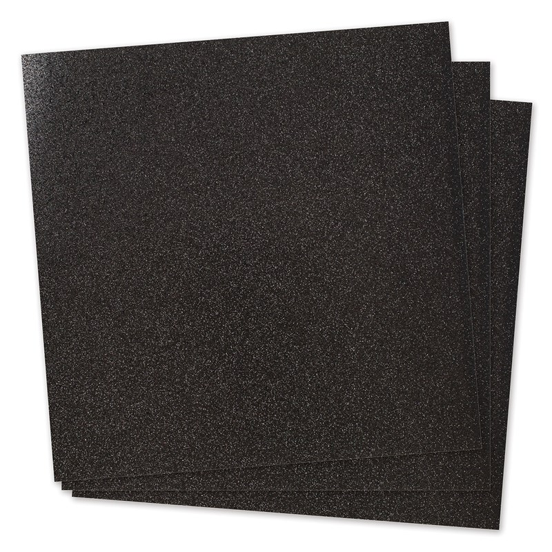Black Glitter Paper