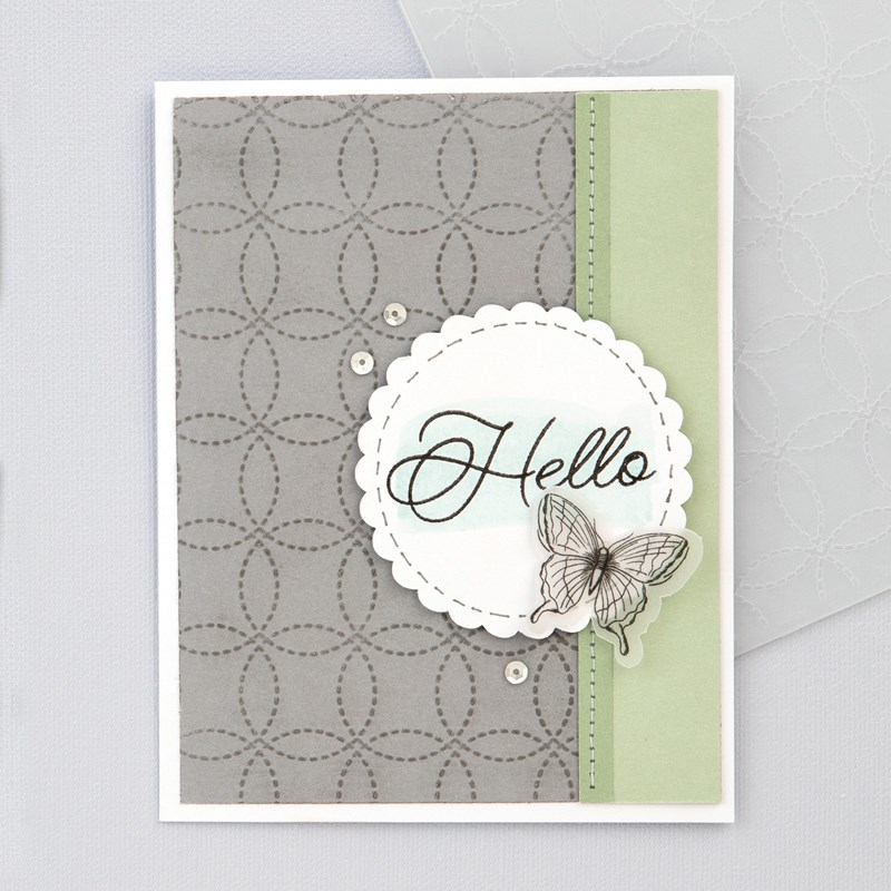 Stitched Circles Embossing Folder