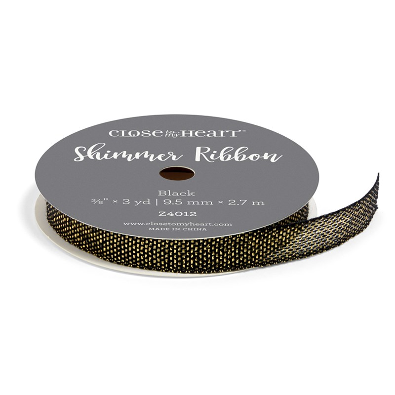 Black Shimmer Ribbon