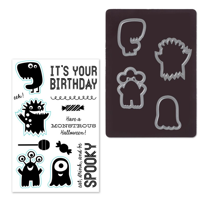Monstrous Halloween Stamp + Thin Cuts