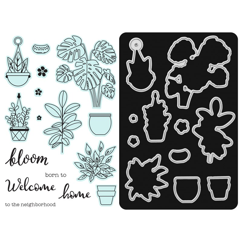 Born to Bloom Stamp + Thin Cuts