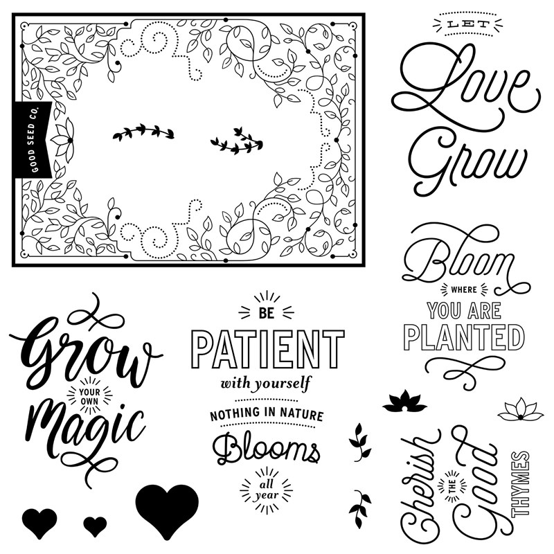 January STAMP OF THE MONTH - Bloom & Grow