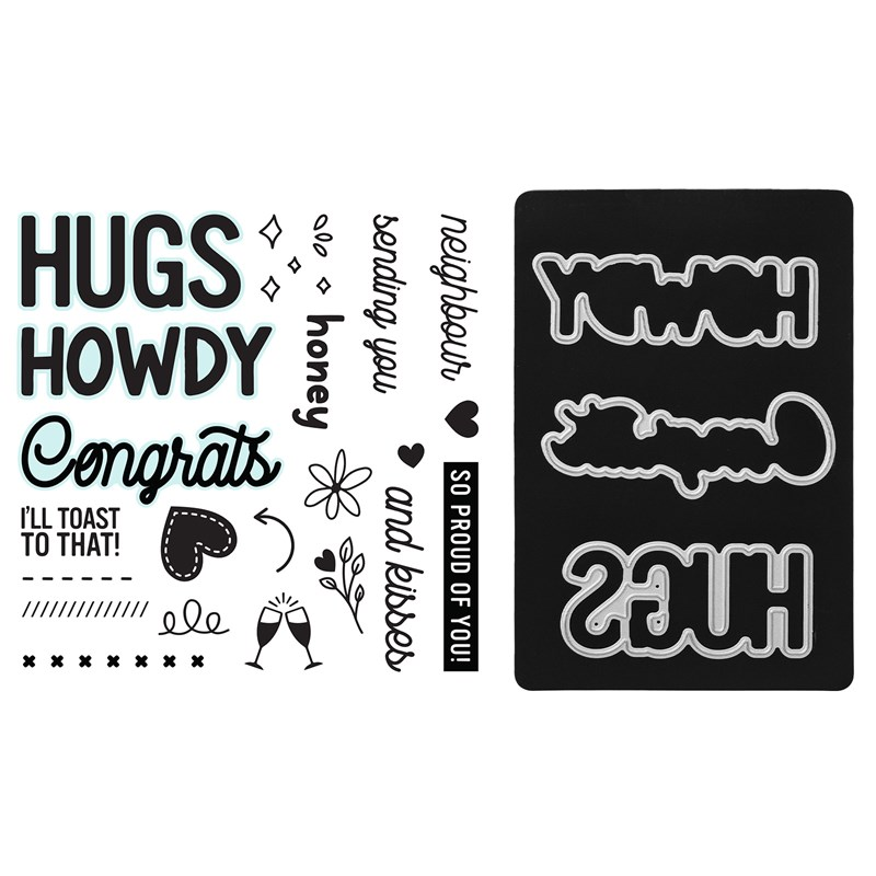 Howdy Neighbour Stamp + Thin Cuts
