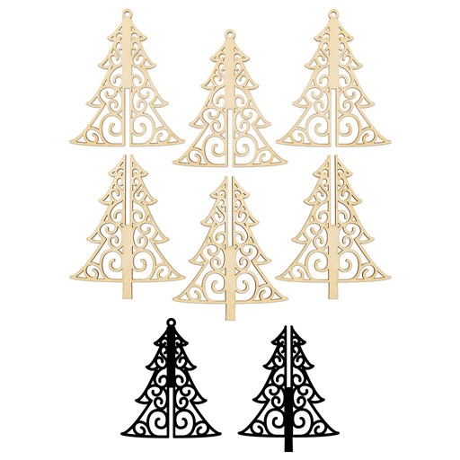3-D Tree Wood Ornaments (CC11208)