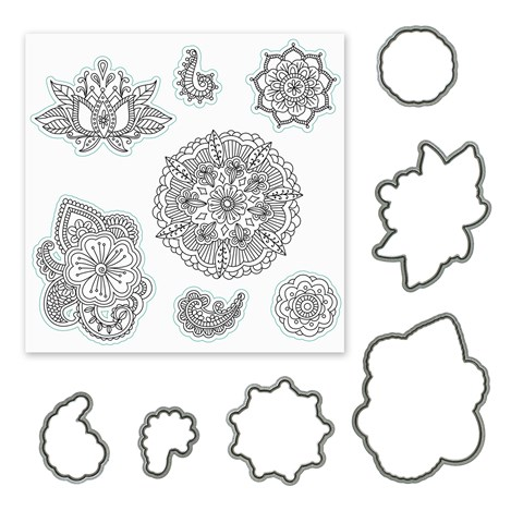 Ornate Blossoms Stamp + Thin Cuts (CC1202)