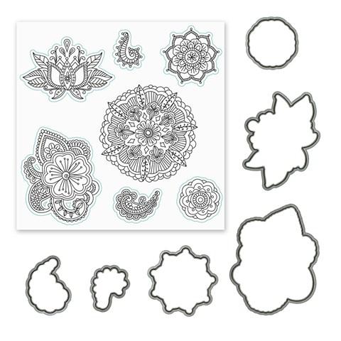 Ornate Blossoms Stamp + Thin Cuts (CC1202)