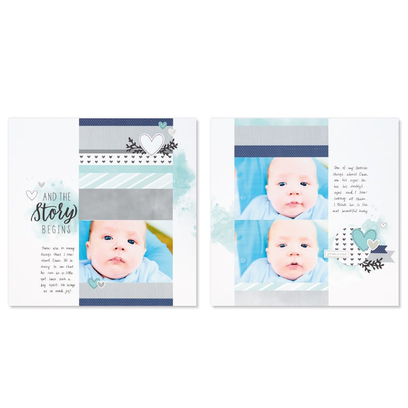 The Story Begins (Baby Boy) Cut Above® Layout Kit