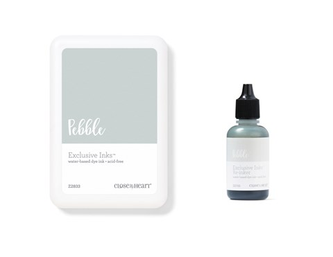 Pebble Exclusive Inks™ Stamp Pad + Re-inker (CC1439)