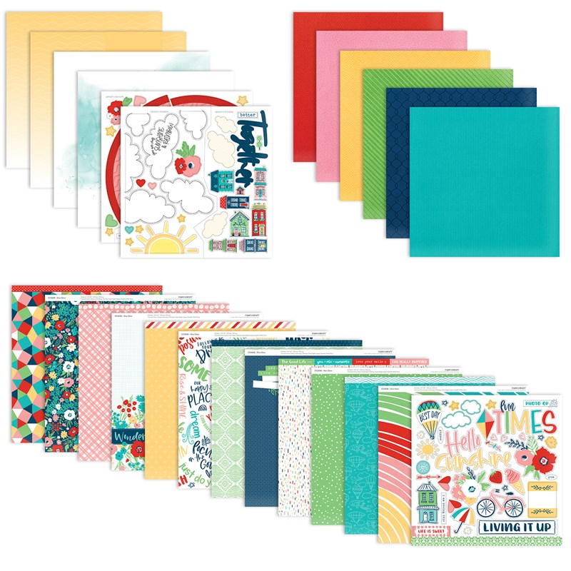 Blue Skies Paper Bundle