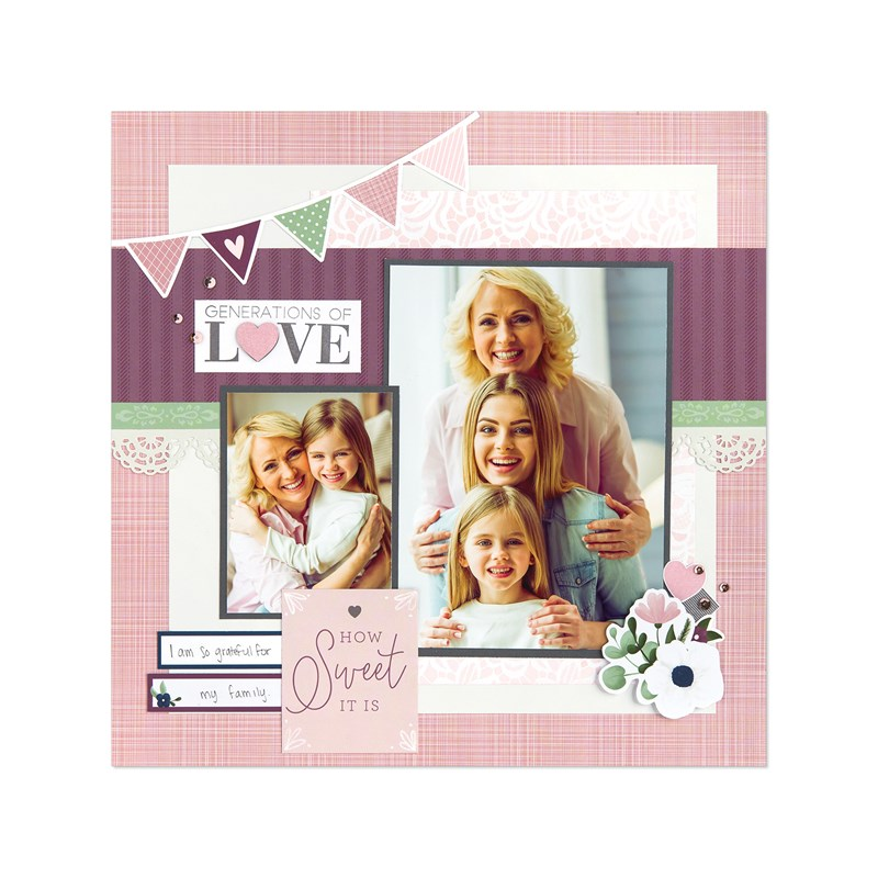 True Love Deluxe Scrapbooking Workshop Kit (without Thin Cuts)