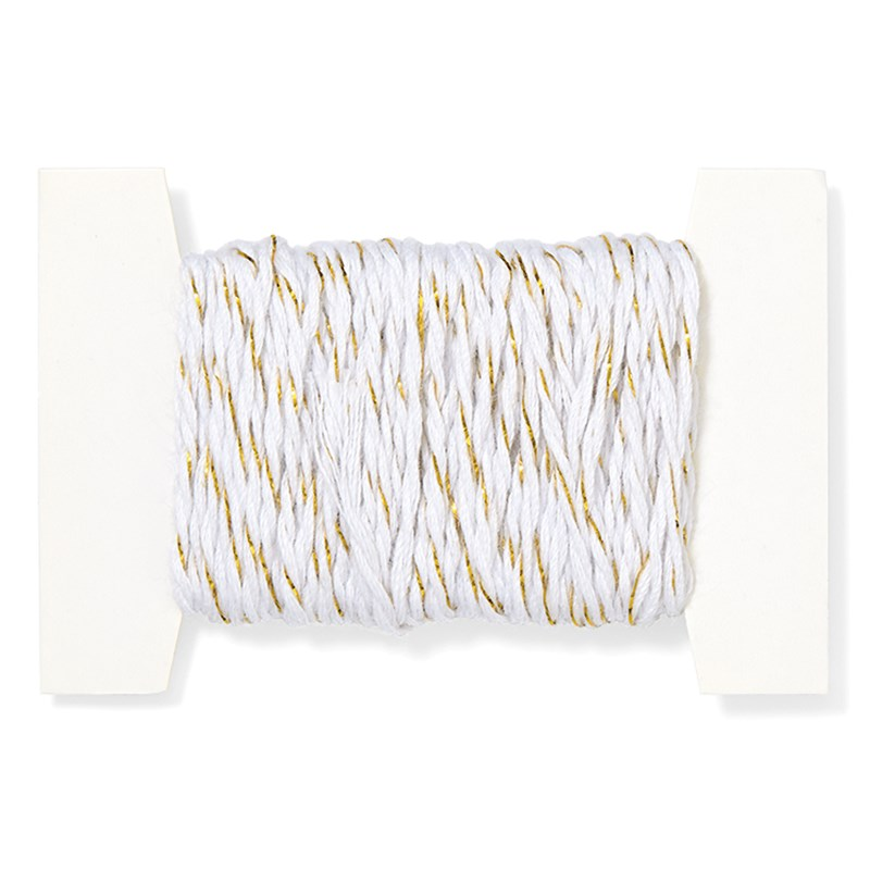 White & Gold Twine
