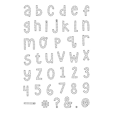 Stitched Alphabet (C1738)