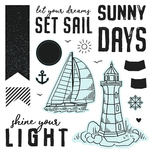 Seas the Day—Scrapbooking (D1913)