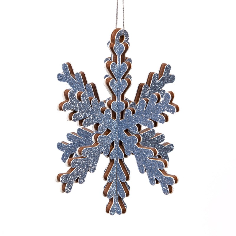 3-D Snowflake Wood Ornaments