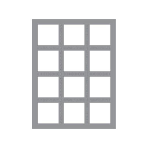 Multi Square Windows Thin Cuts (Z4023)