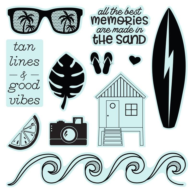 Summer Vibes—Scrapbooking Stamp Set