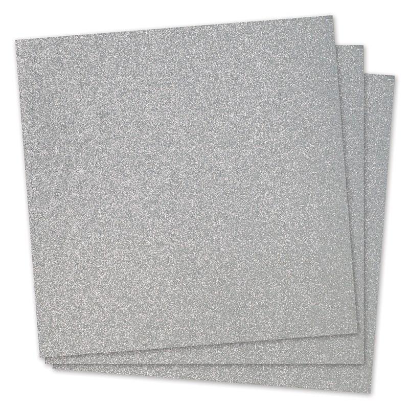 Silver Glitter Paper