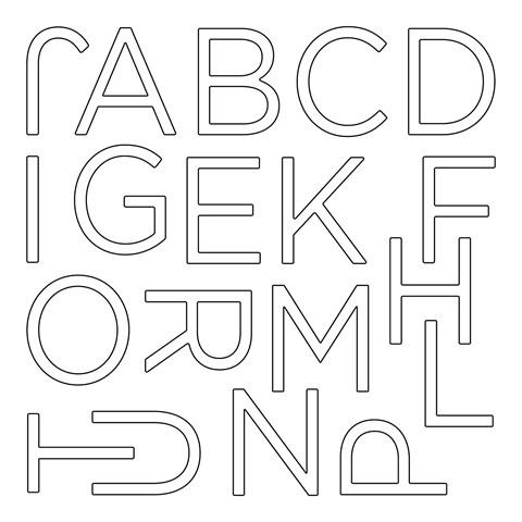 Outline Classroom Alphabet (E1042)