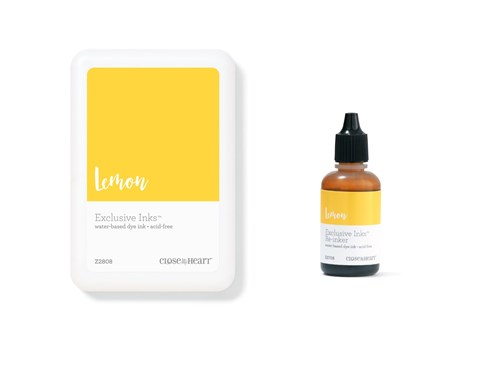 Lemon Exclusive Inks™ Stamp Pad + Re-inker (CC1409)