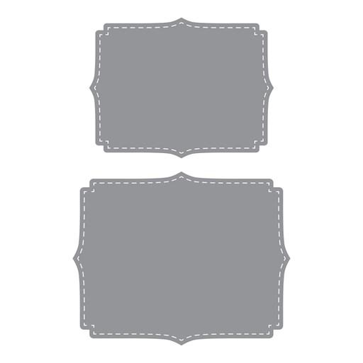 Stitched Fancy Brackets Thin Cuts (Z3686)