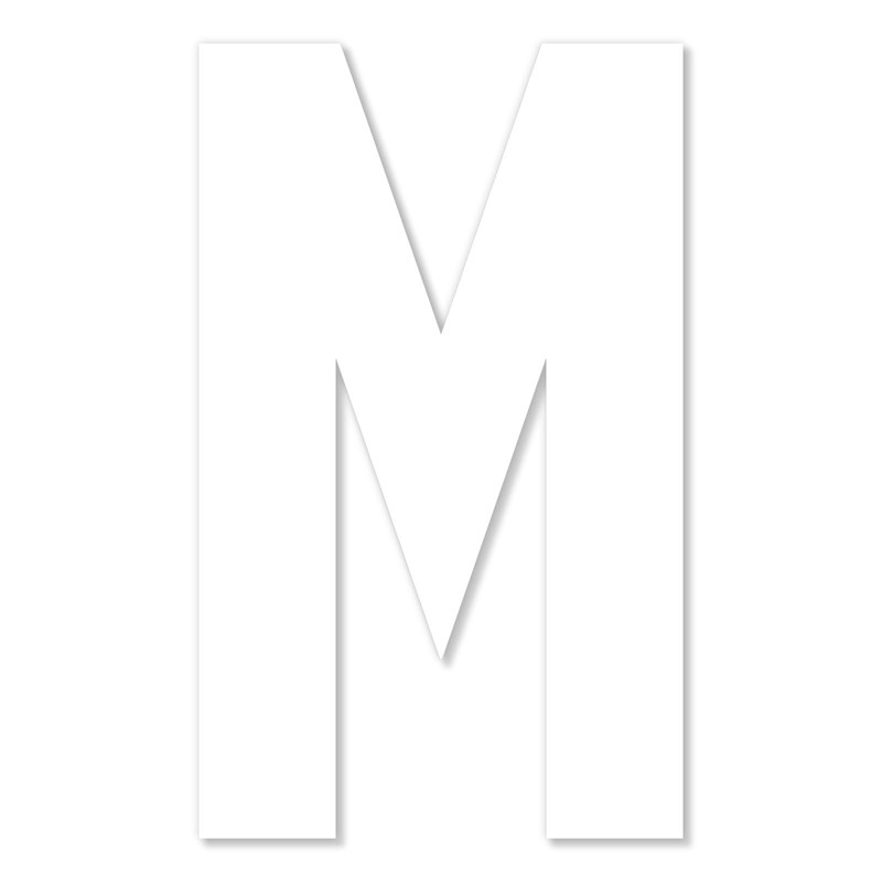 Chipboard Monogram—M