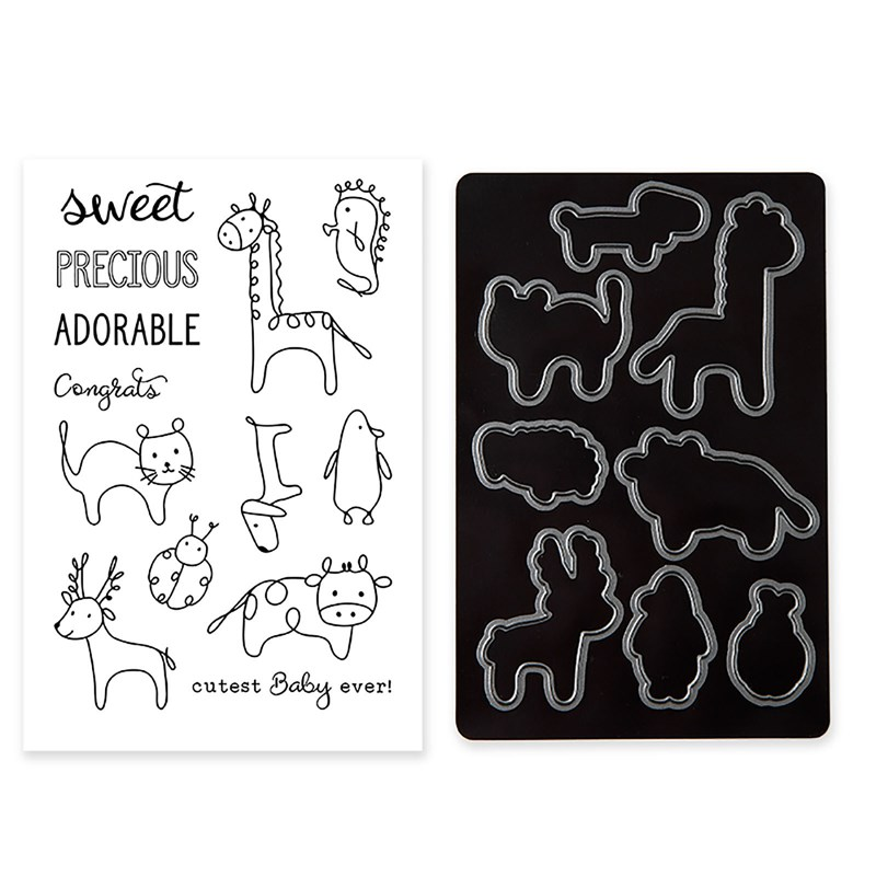 Baby Animal Doodles Stamp + Thin Cuts