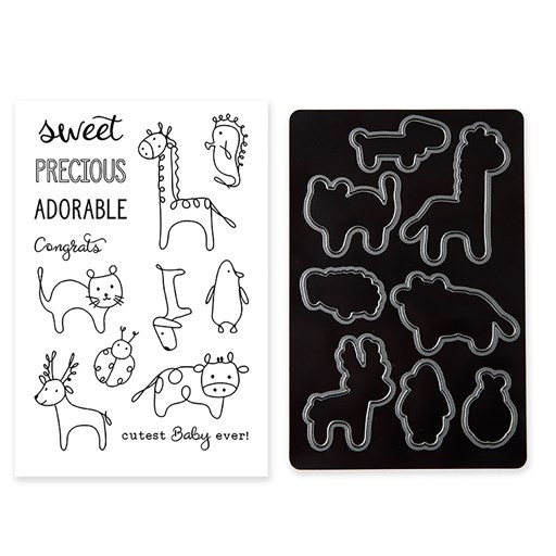Baby Animal Doodles Stamp + Thin Cuts (Z4237)