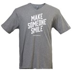 Men's 'Make Someone Smile' Heathered Nickel V-Neck Tee