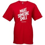 Men's 'Make Someone Smile' Classic Red V-Neck Tee