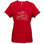 Women's 'Make Someone Smile' Classic Red V-Neck Tee